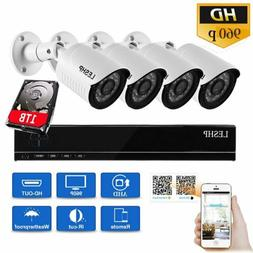 1080N AHD CCTV DVR House Security Camera System + 4 X 960P B