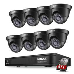 ZOSI 1080N Night Vision 1TB 8CH DVR IR CCTV Security Camera