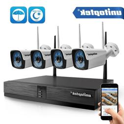 1080P 4CH HD WiFi Security Camera System Wireless Outdoor IP