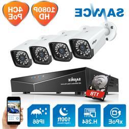 SANNCE 1080P 4CH NVR PoE IP Network CCTV Surveillance Securi