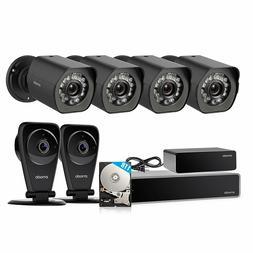 Zmodo 8CH 1080P NVR 4 PoE Outdoor+2 Wifi Audio Camera Securi