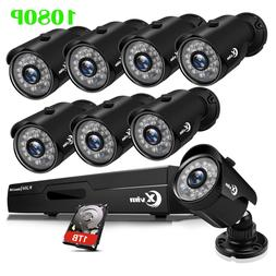 XVIM 4CH 8CH 1080P Outdoor CCTV Security Camera System Surve