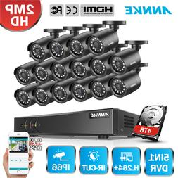 ANNKE 1080P H.264+ CCTV Surveillance System 16CH Channel DVR