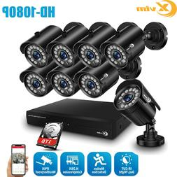 XVIM 1080P HDMI 8CH CCTV DVR 720P Outdoor IR Night Security