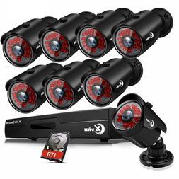 XVIM 1080P HDMI HD-TVI 8CH /4CH DVR IR Night Vision CCTV Sec