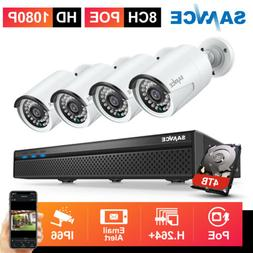 SANNCE 1080P POE Security Camera System 8CH 5MP NVR Audio Re