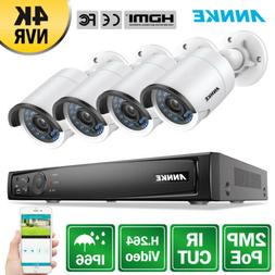 ANNKE 1080P POE System 8CH 8MP NVR Home Outdoor Security IP