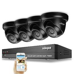 SANNCE 1080P Security Camera System 4CH Onvif DVR 2MP IR Nig
