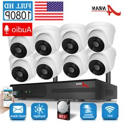 ANRAN 1080P Security Camera System Audio Wireless 2TB Hard D