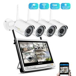 1080P Wireless IP Security Camera System Outdoor WIFI 12'' M