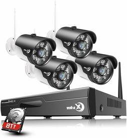 XVIM 1080P Wireless Security Camera System 4PCS WiFi Camera