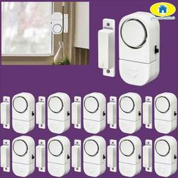 Golden Security 10Pcs 90Db Wireless Home Window Door Burglar