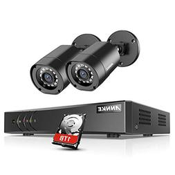 1280TVL Annke 4 Channel 720P AHD DVR with 2HD 1280 720P In O