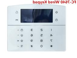 12V DC Wired keypad for FC-7640 TCP/IP GSM GPRS Alarm <font>