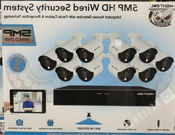 Night Owl 16 Channel 5MP HD Wired Security System 2TB DVR HD