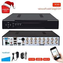 16 Channels DVR Recorder Hybrid DVR H.264 CCTV Security Came