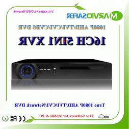 16ch 16 Channel Full HD 1080P 2MP AHD-H AHD TVI CVI DVR AVR