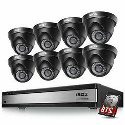 ZOSI 16Ch 720P DVR Recorder 2TB Home Video Surveillance Secu