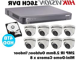 Hikvision 16CH HD CCTV System with 16CH DVR + 4TB HDD and 2M
