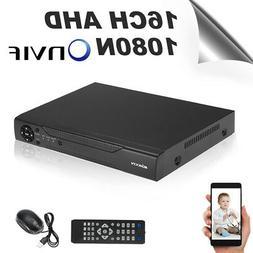 KKmoon 16CH 1080P Hybrid NVR AHD TVI CVI DVR 5-in-1 Digital