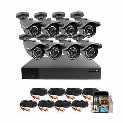 Best Vision 16CH 4-in-1 HD DVR Security Camera System , 8pcs