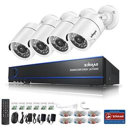 SANNCE 16CH 1080N DVR Security Camera System and  HDTVI 720P