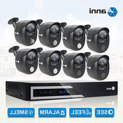 Anni 16 Channel HDMI 1080N CCTV Surveillance DVR kit, and 8