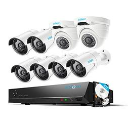 Reolink 4MP 16CH PoE Video Surveillance System, 6 Bullet & 2