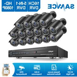 SANNCE 16channel Security Camera System CCTV 1080P Video HDM