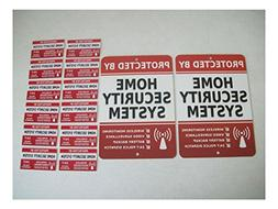 2 Home Security Alarm System Yard Signs & 12 Window Stickers