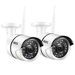 ZOSI 2 PCS Outdoor Wireless IP Camera HD 1080p Onvif Securit