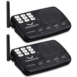 2 Stations LONG RANGE 7-Channel Digital FM Wireless Intercom
