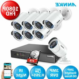 ANNKE 3MP CCTV 5IN1 16CH DVR 3000TVL IR Outdoor Security TVI