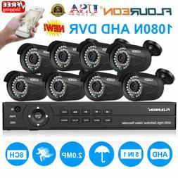 8CH 1080N AHD DVR 8X 3000TVL 1080P Home Surveillance Securit