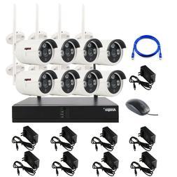 Anspo 4/8CH Wireless WiFi Security Camera System Night Visio