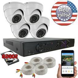 Sikker 4 Channel DVR Recorder indoor outdoor Surveillance Ca