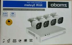 Zmodo 4 Channel NVR 720p Wireless Home Security Surveillance