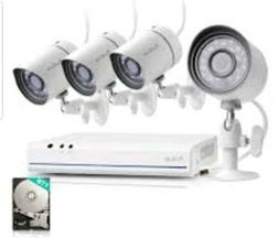 FUNLUX 4 Channel sPoE 720p NVR Security System FS-1004-W-1TB