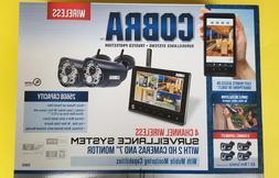 Cobra 4 Channel Wireless Surveillance System 2 Cameras Secur