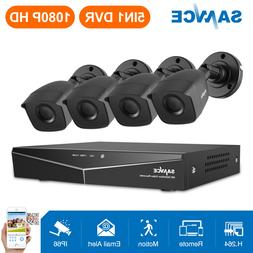 SANNCE 4CH 1080P CCTV DVR 1500TVL HD IR Outdoor Home Securit