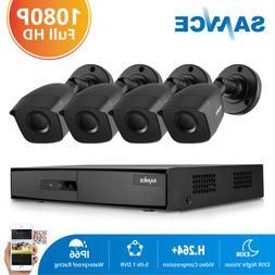 SANNCE 1080P HDMI 4CH DVR CCTV 2MP Security System Camera IR