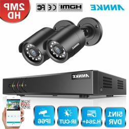ANNKE 4CH 1080P Lite DVR 2x 2MP CCTV Home Security Camera Sy