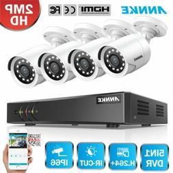 ANNKE 1080P Lite 8CH DVR Full 2MP CCTV Home Security Camera