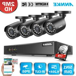 ANNKE H.264+ 4CH 1080P Lite DVR 2MP 1500TVL Security Camera