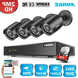 ANNKE 4CH 1080P Lite DVR Outdoor 2MP Security Camera System