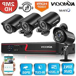 KKMOON 1080P Security Camera System 4CH 5MP Lite DVR Kit Hom