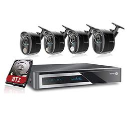 ANNI Home CCTV Alarm Video Recorder Surveillance Kit, 8-Chan