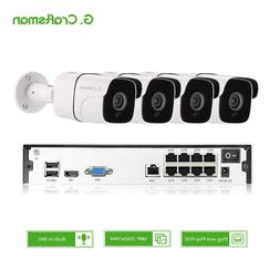 4ch 5MP Audio POE Kit H.265 <font><b>System</b></font> CCTV
