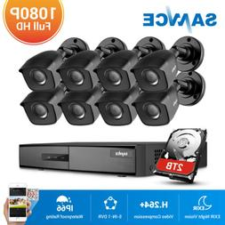 SANNCE 4CH 8CH DVR Full 1080P Outdoor Security Camera System