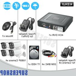 Golden Security 4CH CCTV Camera System 1080p AHD DVR 3000TVL